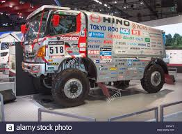 rally truck tokyo japan 28th oct 2015 a hino rally truck on display at the