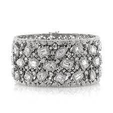 diamond bracelet cuff images 34 17ct fancy shape diamond cuff bracelet jpg