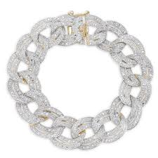 chain diamond bracelet images Finesque silver 1ct tdw diamond chain link bracelet free jpg
