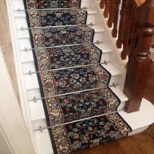 persian d blue stair carpet runner narrow staircase traditional