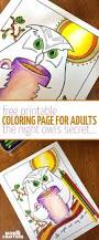 free printable night owl coloring page for adults moms and crafters