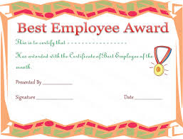 employee of the year certificate template free 28 images