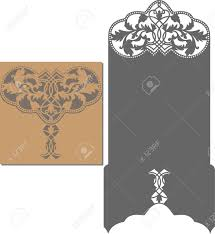 Invitation Card Paper Cut Out Card Laser Cut Pattern For Invitation Card For