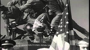 Iwo Jima Flag Raising Staged Marines Raise The Us Flag On The Marine Corps War Memorial