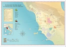 Italy Map Tuscany by Tuscany Wine Region Map Cellartours