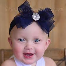 baby girl headbands and bows buy fancy navy blue organza bow baby girl headband online at
