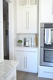 kitchen tour herringbone backsplash modern white kitchens and