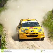 peugeot 207 rally peugeot 207 rally car editorial image image of driver 14118890