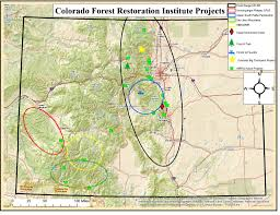 Colorado Front Range Map Maps Colorado Forest Restoration Institute