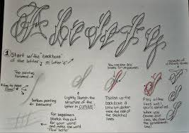 tattoo script fancy cursive tutorial pt 1 by 814ck5t4r on deviantart