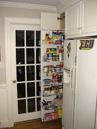 modern white solid wood pantry kitchen cabinet with vertical pull