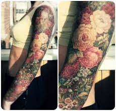 sleeve floral tattoos for