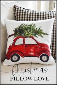 volkswagen christmas christmas pillow love