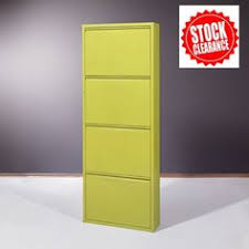 Yellow Metal Storage Cabinet Cowell Wooden Shoe Storage Cabinet In Walnut 44669 Cabinets