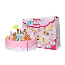 jeux de cuisine de gateaux d anniversaire teckpeak 82pcs jouets magnétique de gâteau d anniversaire a couper