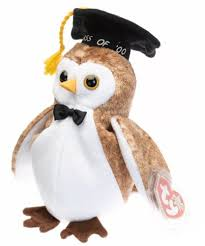 graduation owl ty beanie babies wisest 2000 graduation owl toys