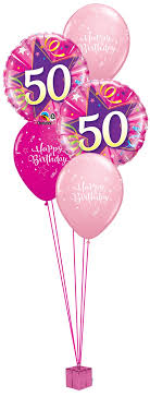 50th birthday balloon bouquets pink 50th birthday balloon bouquet party fever