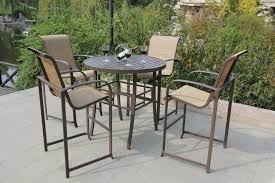 Outdoor Bar Height Swivel Chairs Patio Patio High Top Table Black Round Modern Wooden Patio High