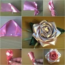 satin roses how to diy pretty satin ribbon tutorial fab diy