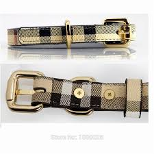 dog necklace leather images Luxury designer pet supplies plaid cowhide leather dog collar for jpg