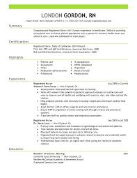 sample achievements for resume registered nurse resume sample