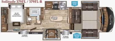 5th wheel with living room in front grand design solitude 375fl fifth wheel front living luxury blue