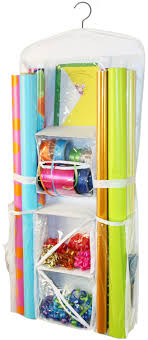 how to store wrapping paper and gift bags hanging gift wrap organizer home kitchen