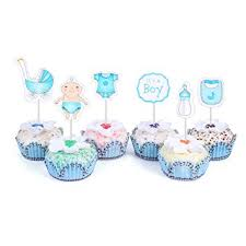 it s a boy decorations 48 cupcake toppers for baby shower it s a boy kids