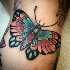 butterfly on the side of a knee smith