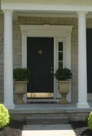 Front Door Planters by Ok To Place Two Big Planters Beside Front Door That Has One Sidelight