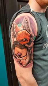 foxy lady tattoo by josh wiley modified skin dayton oh fox