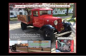 Antique Ford Truck Art - 81 year old 1934 ford dually stake bed truck review and ride