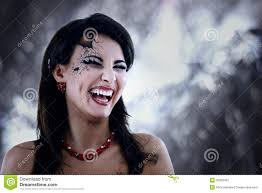 evil halloween vampire woman stock illustration image 69809540