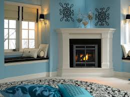corner decorating ideas home design corner fireplace decorating ideas powder room living