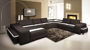 canapé panoramique en cuir deco in canape panoramique cuir noir et blanc avec lumiere