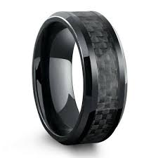 titanium wedding band reviews all black titanium ring mens wedding band with carbon fiber inlay