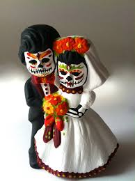 sugar skull cake topper day of the dead wedding cake topper dia de los muertos sugar skull