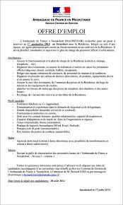 offre emploi cuisine ambassade de offre d emploi
