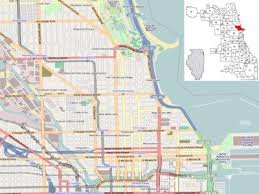 chicago map side template location map united states chicago near side