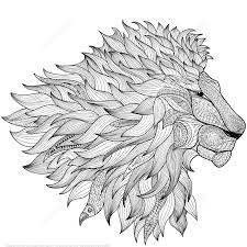 lion design zentangle coloring page art u0026 culture free