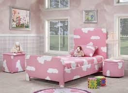 pink room black furniture white curtain glass window above bed