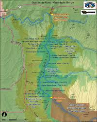 Colorado Fourteeners Map by Gunnison River Map Gunnison Gorge White Water Rafting In
