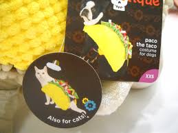 bootique paco the taco costume for dogs and cats size xxs