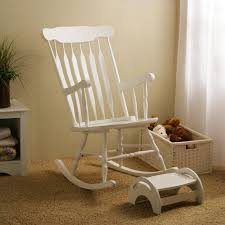 Rocking Chair Glider For Nursery by Furniture White Wooden Kids Rocking Chair With Foot Rest Plus