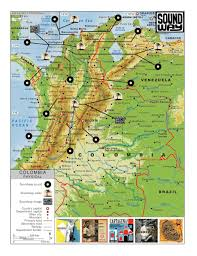 Map Of Colombia The Monday Map Musical Map Of Colombia Hejorama