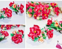 Flower Clips For Hair - floral hair clip etsy