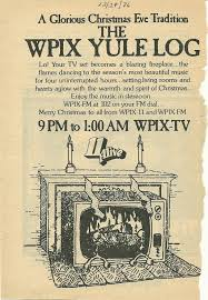 the yule log u2013 wpix tv channel 11 old time ny area tv