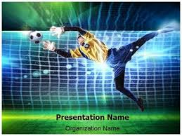 soccer goalkeeper powerpoint template is one of the best