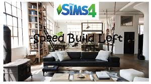 the sims 4 loft bedroom speed build youtube