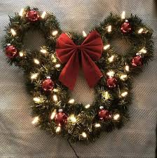 drop down christmas lights an adorable christmas themed mickey or minnie wreath for all of